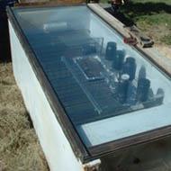 solar oven made from fridge